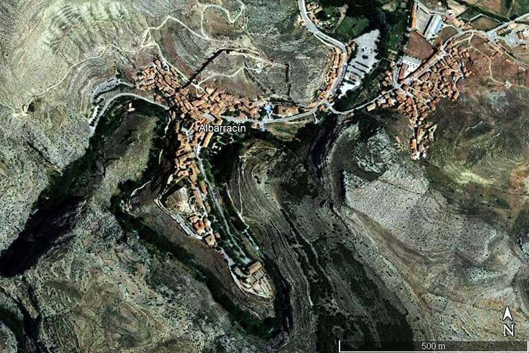Albarracín (Google earth 2020-08-11)